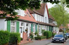 Wohnhäuser / Siedlungshäuser beim Doraweg in Wilhelmshaven.