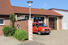 Gebäude der Freiwilligen Feuerwehr in Burhave, Gemeinde Butjadingen.