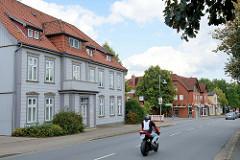 Denkmalgeschütztes Wohnhaus / Geschäftshaus in der Walsrode Straße von Soltau - jetzt Nutzung als Ärztehaus.