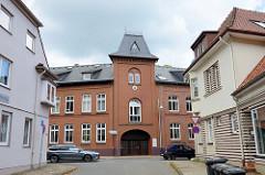 Historisches Geschäftshaus / Verlagsgebäude unter Denkmalschutz stehend - Kirchenstraße von Soltau.