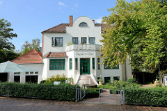 Vogeler Villa in der Bergstraße von Worpswede - Entwurf  des Gebäudes durch den Worpsweder Künstler Heinrich Vogeler.