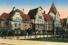 Historische Ansicht der Kaiserlichen Intendantur in Wilhelmshaven.