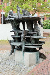 Kunst im öffentlichen Raum, Bronzeskulptur in Wilhelmshaven.