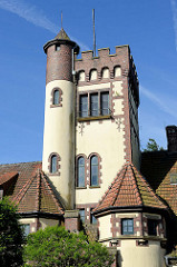 Ehem. Bahnhofsgebäude am Fähranleger von Blexen / Nordenham, errichtet 1907; zwischenzeitliche Nutzung als Hotel und Gaststätte - z. Zt. Leerstand.