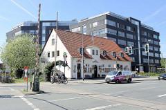 Alter Bahnübergang beim Hafen von Münster.