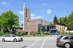 Christuskirche in Hamburg Hamm -  evangelisch-methodistisches Kirchengebäude, erbaut 1958 - Architekt  Helmut Lubowski.
