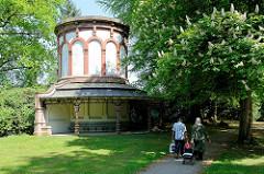 Historischer Wasserbehälter, Wassertank am Nordring auf dem Ohldorfer Friedhof; erbaut um 1898.