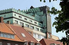 Expressionistische Architektur in Münster - Raphaelsklinik mit Kupferdach; erbaut 1928,  Architekt  Regierungsbaumeister Carl Brocker.