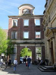 Salzstraße in Münster bei der Dominikanerkirche - Tordurchgang.