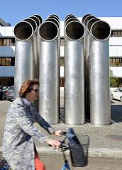 Kunst im öffentlichen Raum - Abluftplastik - Friedrich Gräsel, 1971; Verwaltungsgebäude der LBS in Münster.