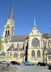 Kreuzkirche in Münster; erbaut 1899 bis 1902 nach Plänen von Bernhard und Hilger Hertel.