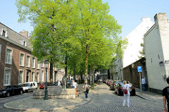 Blick in die Straße De Bosquetplein von Maastricht.