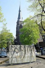 Sint Martinuskerk / St. Martinskirche am Ufer der Maas in Maastricht -  neu gotischer Kirchenbau  vom Architekten  Pierre Cuypers, errichtet 1858.