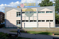 Biblioteka / Bibliotheksgebäude in Słubice.