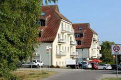 Häuser mit Ferienwohnungen in Gollwitz auf der  Insel Poel - Mecklenburg Vorpommern.