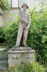 Plastik / Skulptur Stahlwerker vor dem Filmtheater der Jugend in Frankfurt/Oder; Bildhauer Edmund Neutert.