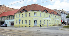 Denkmalgeschützes Wohnhaus am Karl Ritter Platz von Frankfurt / Oder.