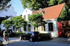Historisches Bleicherhaus / Wohnhaus in der Ulmenstraße von Hamburg Winterhude.