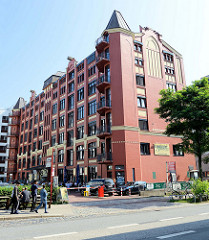 Restaurierte Fabrikgebäude an der Hammerbrookstraße in Hamburg Hammerbrook; errichtet 1906 - Architekt Albert Lindhorst.