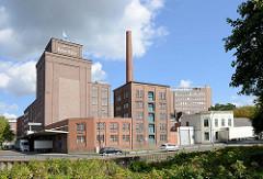 Industriearchitektur der Köllnflockenwerke in Elmshorn.