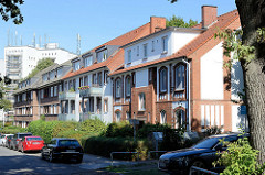 Wohnhäuser in der Bodelschwinghstraße von Hamburg Alsterdorf.