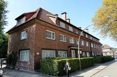 Ehemaliges  Postgebäude  in der Rehmkoppel vom Hamburg Wellingsbüttel -  das Gebäude wurde 1954 errichtet, Architekt F. Jebe.