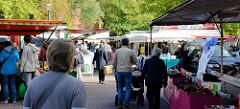 Wochenmarkt Tibarg im Hamburger Stadtteil Niendorf.