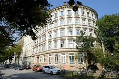 Historisches Etagenhaus am Högerdamm in Hamburg Hammerbrook - errichtet 1868, Architekt R. Fiedler.