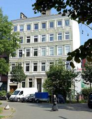 Etagenhaus in der Woltmannstraße von Hamburg Hammerbrook.