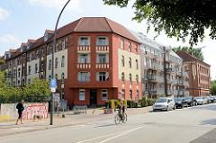 Wohn- und Verwaltungsgebäude am Billhorner Deich in Hamburg Rothenburgsort - erbaut um 1900; Ergänzung durch einen Neubau.