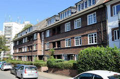 Teil der Siedlung Alsterdorfer Straße / Bodelschwinghstraße in Hamburg Alsterdorf; errichtet 1928 - Architekt Richard Wagner. Die Wohnhäuser stehen unter Denkmalschutz.