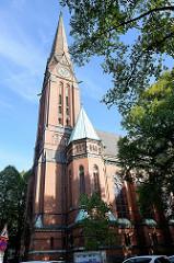 St. Gertrudenkirche  im Hamburger Stadtteil Uhlenhorst, errichtet 1885 - Architekt Johannes Otzen.