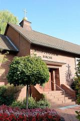 Gebäude der neuapostolischen Kirche an der Friedrich-Ebert-Straße in Pinneberg.