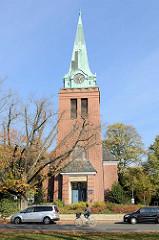 Kirche in Hamburg Groß Flottbek, geweiht 1912 - Architekten Raabe & Wöhlecke.