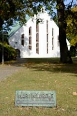 Evangelisch-lutherische Martinskirche im Hamburger Stadtteil Rahlstedt, geweiht 1961 - Olaf Andreas Gulbransson.