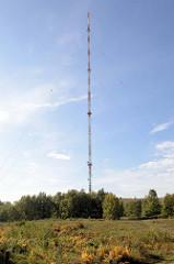 m hohe Sendemast - Sender Hamburg Rahlstedt - im Naturschutzgebiet Höltigbaum