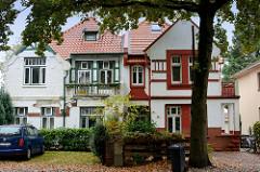 Doppelhausvilla / Jugendstilarchitektur im Damm / Pinneberg.