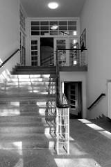 Treppenhaus vom Kreishaus in der Moltkestraße in Pinneberg, errichtet 1932 -  Umbau des bestehenden Krankenhauses; Arch. Klaus Groth.