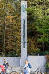 Ehrenmal für die Gefallenen des 1. Weltkrieges in der Bahnhofstraße von Pinneberg; 1934 eingeweiht, Entwurf Stadtbaumeister Theodor Hansen.