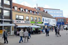 Fußgängerzone am Damm in Pinneberg.