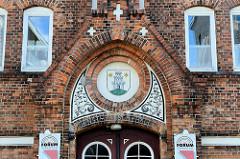 Turnhalle, Ernst-Paasch-Halle in der Lindenstraße von Pinneberg, errichtet 1891 - Baustil Neogotik.