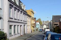 Wohnhäuser in der Schulstraße von Pinneberg.