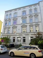 Mietwohnhaus in der Maretstraße von Hamburg-Harburg, das denkmalgeschützte Wohngebäude wurde 1899 errichtet.