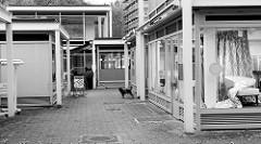 Kulturdenkmal im Hamburger Stadtteil Rissen; Laden / Geschäftspavillons  an der Wedeler Landstraße - errichtet  1969, Architekt Werner Kallmorgen.
