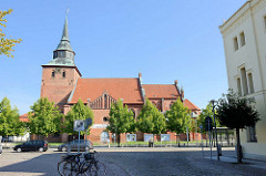 Stadtkirche St. MarienBlick zur evangelisch-lutherischen Stadtkirche St. Marien in Boizenburg/Elbe - überwiegend gotische Pfarrkirche.