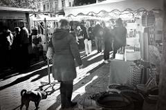 Wochenmarkt im Hamburger Stadtteil Ottensen / Spitzenplatz.