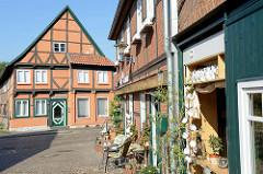 Historische Architektur in der Elbstadt Boizenburg - Blick zu einem denkmalgeschützten Wohnhaus in der Klingbergstraße.