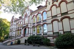 Schulgebäude vom Lessing Gymnasium in Hamburg-Harburg, das unter Denkmalschutz stehende Schulhaus wurde 1902 errichtet - Architekt Friedrich Homann.