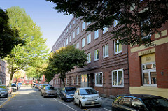 Baudenkmal im BauvereinsWeg von Hamburg Wilhelmsburg, Wohnblock / Siedlungsbau errichtet 1928; Architekt Wilhelm L.C. Neumann.