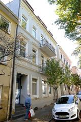 Denkmalgeschützte Etagenhäuser im Compeweg von Hamburg-Harburg - errichtet um 1898.